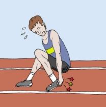 Dolor en atleta