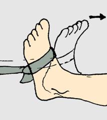 Dorsi-flexion del pie contrarresistencia